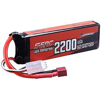 Gerui 2S Lipo Battery 7.4V 40C 2200mAh with T Plug for RC Airplane Quadcopter Helicopter Drone