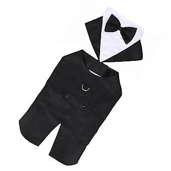 Perro formal camisa de boda algodón esmoquin mascota traje de moda para la boda cosplay