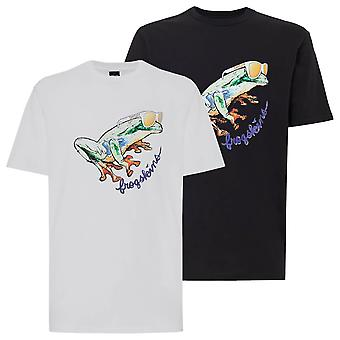Oakley Mens 2021 Jupiter Frog Ribbed Collar Crew Neck Short Sleeve T-Shirt