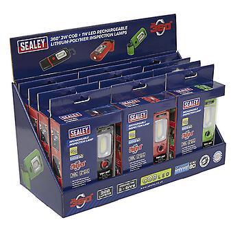 Sealey Led3601Combo Led3601 serie inspección lámpara combinación 12 Pc