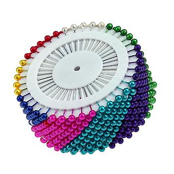 480pcs Sewing Pins Colorful Round Pearl Straight Head Pins Localization Needle