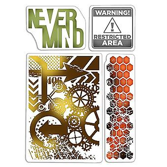 """Ciao Bella 4""""x6"""" Stamps - Never Mind"""