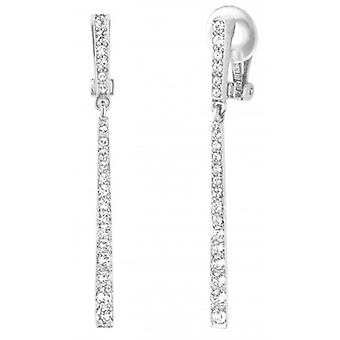 Traveller Drop Clip Earrings - Hanging - Rhdoium Plated - Crystals - 157356 - 824