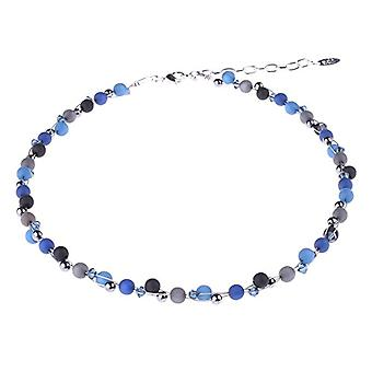 """propelled """"Johanna"""" necklace, mix of Polaris pearl and glass materials, handmade by Adi jewelry in Berlin. Ref. 425118862949"""