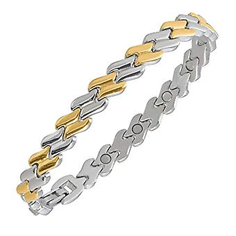 Sabona of London - Women's bracelet in two-tone stainless steel with 18-carat Gold Insert, Different Sizes and Ref Steel. 4260640010111