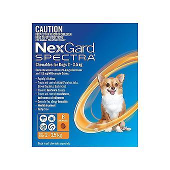 Nexgard Spectra X-Small 2-3,5 kg (4,50-8 lbs)-6 bucăți