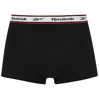 Reebok Mens 3 Pack Trunks Elastische Merk Tailleband Boxers Ondergoed