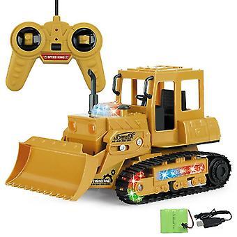 Drahtlose Fernbedienung Baufahrzeug Engineering RC Auto Spielzeug für Kinder| RC Trucks(Braun)