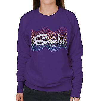 Sindy Rainbow Polka Dot Wave Women's Sweatshirt
