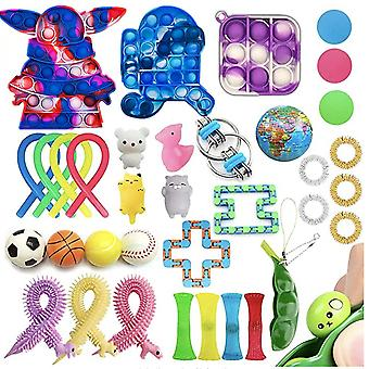 Sensory Fidget Toys Set Bubble Pop Stress Relief for Kids Adults Z140