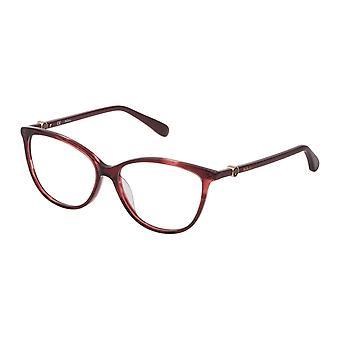 Mulberry VML019 01GJ Shiny Striped Red Havana Glasses