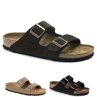 Birkenstock Pour hommes Arizona Soft Footbed Suede Leather Sandales