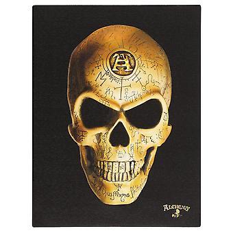 Alkemia Omega Skull Canvas Plakki