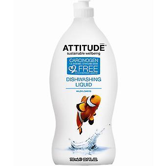 Attitude Dishwashing Liquid, Wildflowers 23.7 Oz