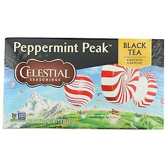 Celestial Seasonings Tea Black Pprmnt Peak, Case of 6 X 20 Bags