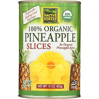 Native Forest Pineapple Sliced, Case of 6 X 15 Oz