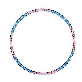 Hula Hoop ponderato per l'allenamento di allenamento fitness con perdita di peso (blu rosa)