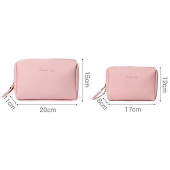 Pu Vegan Leather Travel Daily Cosmetic Toiletry Sac