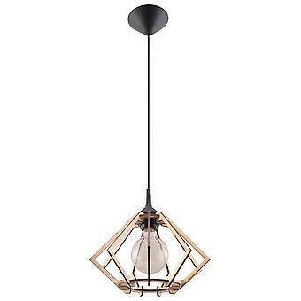 Sollux POMPELMO SL.0393 Rama druciana Wisiorek Światło Naturalne Drewno E27