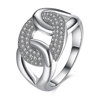 INALIS Cirkon egész Platinum Ajándék Party esküvői ujj gyűrűk