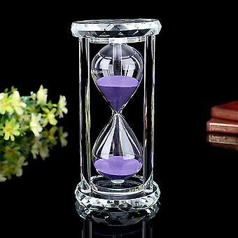Kristall-Sanduhr mit Geschenkbox, 15 Minuten, Violett