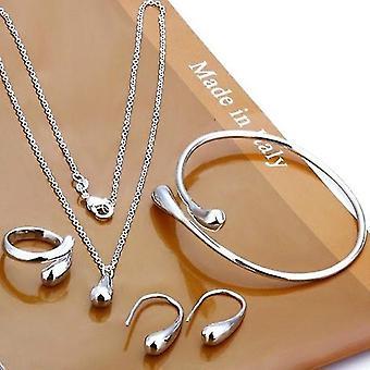 Wedding Fashion 925 Silver Plated Eardrop Jewelry Set