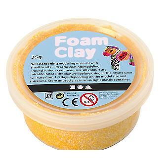 35g Gul Foam Clay för Childrens Modellering Hantverk