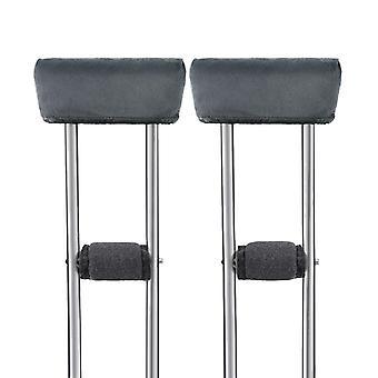 Healifty 4kpl Crutch Pads Universal Kainalo