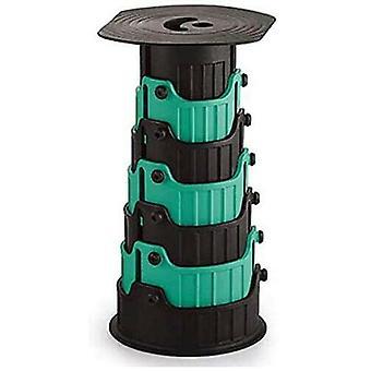 Tabouret télescopique compact Siège pliant rétractable portable pour une utilisation extérieure et intérieure Enfants Adultes Camping Randonnée Pêche BBQ - Vert foncé