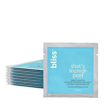 Bliss That's Incredi-peel Glycolic Acid Resurfacing Face Peel Pads, 15 ct
