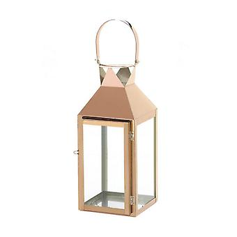 Gallery of Light Rose Gold Stainless Steel Candle Lantern - 15.25 inches, Pack of 1