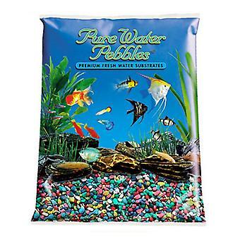 Pure Water Pebbles Aquarium Gravel - Rainbow - 25 lbs (3.1-6.3 mm Grain)