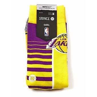 Stance Socks Nba La Lakers Gradient Socks - Yellow