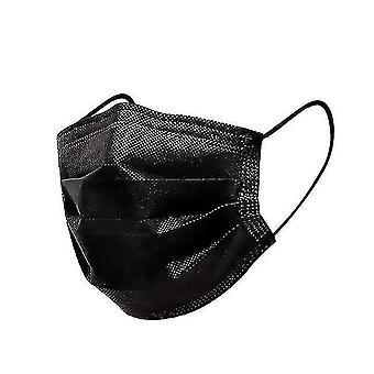 Dust masks 3-layer non woven face masks  anti-dust  disposable 10pcs black