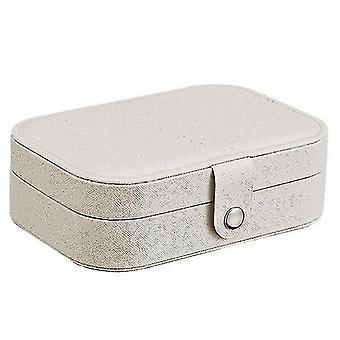 Jewelry holders travel jewellery organiser box white