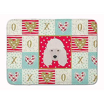 Bath mats rugs carolines treasures ck5229rug poodle love machine washable memory foam mat
