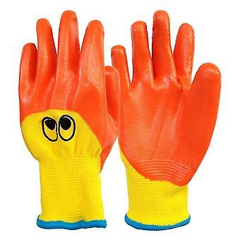 Safety gloves children's gloves 5-7 years fiber gardening gloves