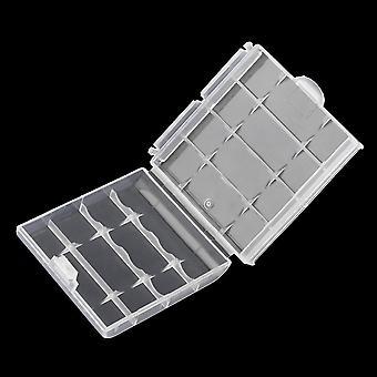 Белый пластиковый жесткий пластиковый держатель крышки корпуса для Aa / Aaa аккумуляторная батарея