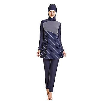 Moslimské plavky Dámske plavky 2018 Samostatné plavky Moslimské ženy spojili plavky Blokujú Uv Rays Plus Size