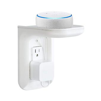 Outlet Shelf, Power Perch With Built-in Cable Management, Wall Bathroom Shelf