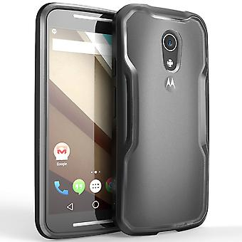 Moto G Case, SUPCASE,Unicorn Beetle Series, Motorola Moto G, Hybrid Bumper Case-Frost Clear/Black