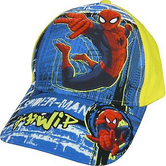 Boys Marvel Spiderman Baseball Cap Hat with Adjustable Back
