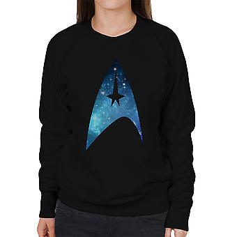 Star Trek Galaxy silhuett Star Fleet Logo kvinners Sweatshirt