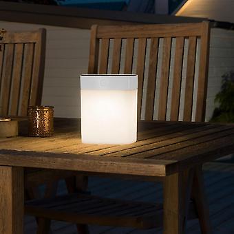 Konstsmide Solar Powered iluminação de mesa de jardim pode ser escurecido, branco
