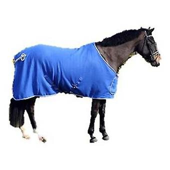 QHP wool blanket with Adorno Blue / Silver