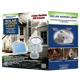 Sunforce Solar LED New Motion Sensor Security Light with Solar Panel