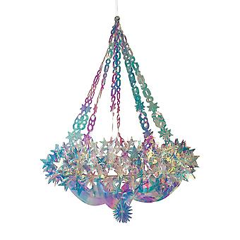 Christmas Shop Holographic Star Chandelier