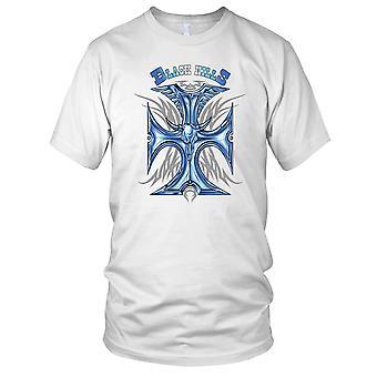 Black Hills - Cross Biker Motorcycle Motorbike Hog Ladies T Shirt