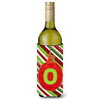 Christmas Oranment Holiday  Initial  Letter O Wine Bottle Beverage Insulator Bev
