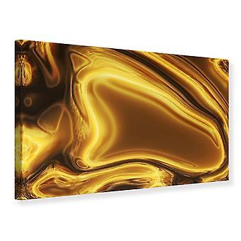 Canvas Print abstracte vloeibaar goud